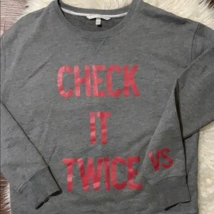 Victoria's Secret Christmas sweatshirt